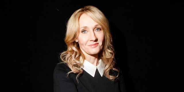 """October 16, 2012. Author J.K. Rowling poses for a portrait while publicizing her adult fiction book """"The Casual Vacancy"""" at Lincoln Center in New York."""