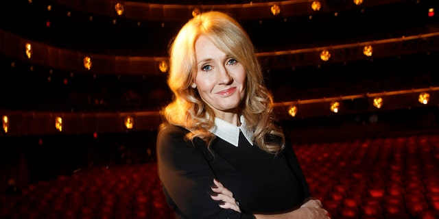 """File photo - Author J.K. Rowling poses for a portrait while publicizing her adult fiction book """"The Casual Vacancy"""" at Lincoln Center in New York Oct. 16, 2012. (REUTERS/Carlo Allegri)"""