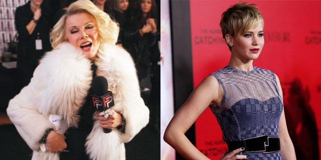 Joan Rivers, left, and Jennifer Lawrence have been feuding.
