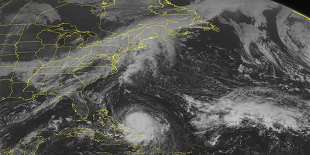 Sept. 30, 2015: This NOAA satellite image shows Hurricane Joaquin in the Caribbean region. The storm is expected to start heading north and could possibly effect the east coast later in the week.