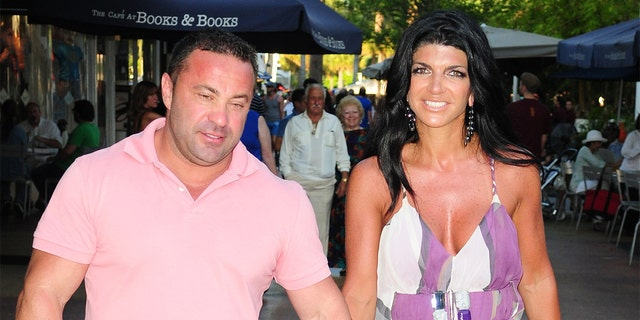 """Real Housewives of New Jersey"" star Teresa Giudice with husband, Joe."