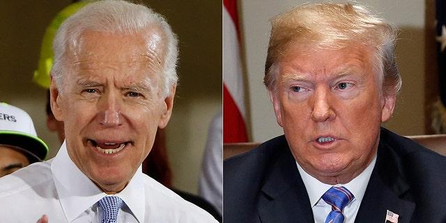 President Trump says running against former VP Joe Biden in 2020 would be a 'dream.'
