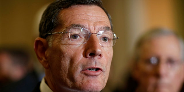 """Wyoming Sen. John Barrasso's state is the country's leading uranium producer, according to the Wyoming Mining Association. Referring to Russia, Uzbekistan, Kazakhstan, Barrasso said, """"We're importing uranium from those countries and we're not producing it in the United States. We should be producing it here, mining it here and enriching it here. To me, that's an importance in terms of energy security as well as national security."""""""
