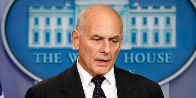 John Kelly is facing criticism from a pair of far-left Democrats. (Associated Press)