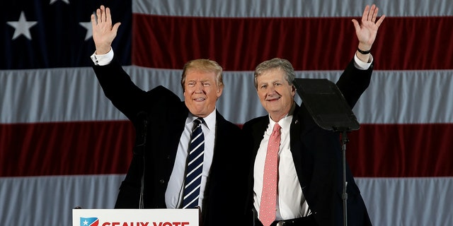 John Kennedy, R-La. has the distinction of being the only sitting U.S. Senator to have benefited from a campaign-trail visit by then President-elect Donald J. Trump.