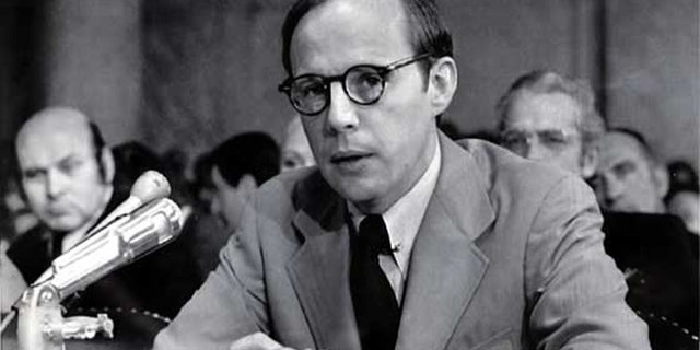 John Dean, former counsel to President Nixon, testifying during a Senate Watergate hearing in 1973.