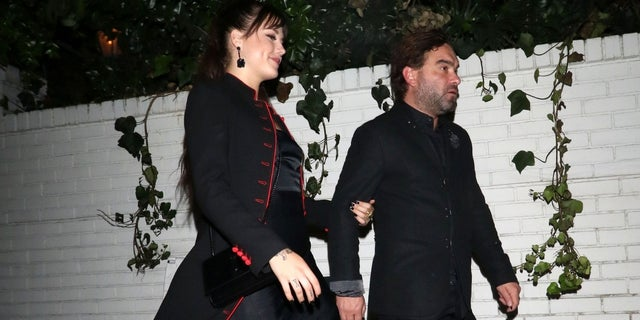 Actor Johnny Galecki shares a photo of his night out with his new, younger girlfriend Alaina Meyer.