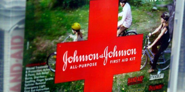 A first aid kit made by Johnson & Johnson for sale on a store shelf in Westminster, Colorado April 14, 2009.