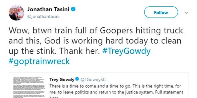 Liberal Author Jonathan Tasini Celebrates Fatal Gop Train Accident