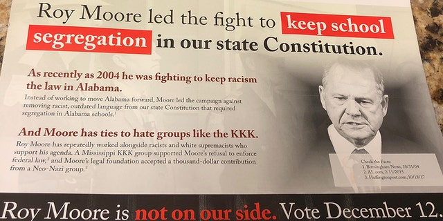The flyer linking Moore to Wallace.