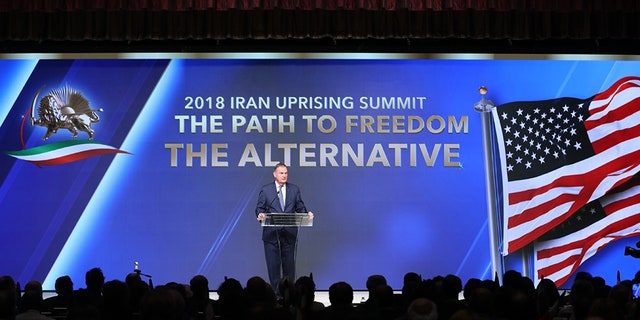 "Former National Security Advisor Gen. James Jones at the ""2018 Iranian Uprising Summit"" in New York on Saturday"