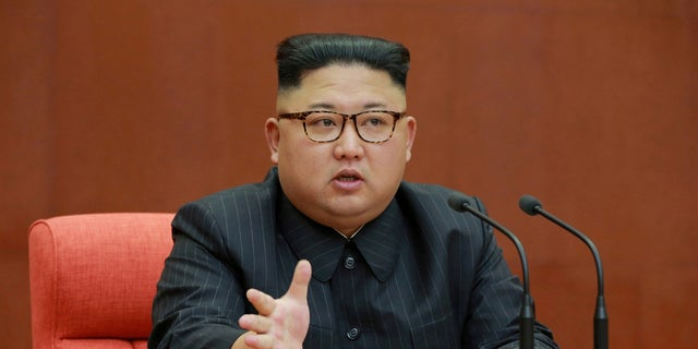 The flags have been tied to Kim Ung-u, an ancestor of North Korean leader Kim Jong Un (pictured).