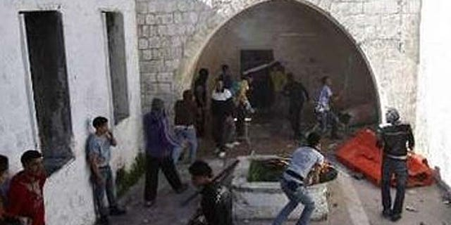 Joseph's Tomb, in the West Bank, was the target of a recently foiled bomb plot. (Reuters)