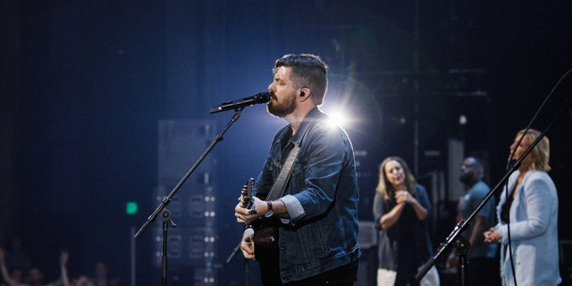 """Josh Baldwin sings his new single """"Stand in Your Love"""" at Bethel's """"Heaven Come Conference"""" in Dallas, Texas."""