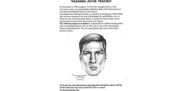 Police released a sketch of a man seen near the crime scene in 1998.