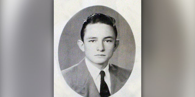 A 1950 high school photo of J.R. (Johnny) Cash, who was vice-president of his class. Cash left Arkansas for Detroit shortly after graduating.