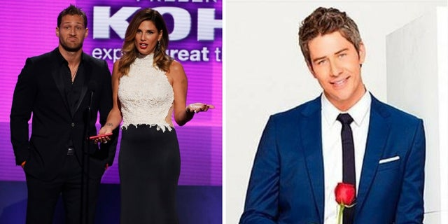 """Juan Pablo Galavis [left with Daisy Fuentes] joked Arie Luyendyk Jr. [right] may have surpassed him as the most hated """"Bachelor"""" of all time."""