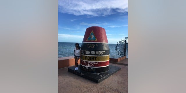 A buoy marks the southernmost point in the continental United States.