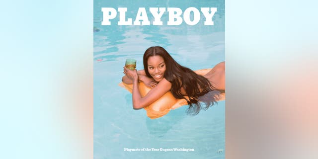 Playboy's June 2016 cover, featuring Playmate of the Year Eugena Washington.