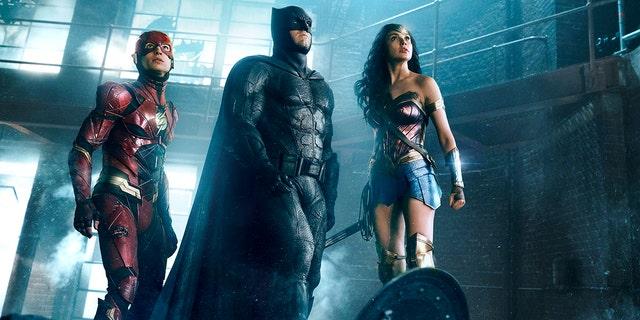 "Ben Affleck as Batman in the 2017 ""Justice League"" film."