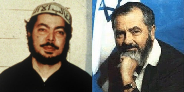 Nosair, (l.), claims to have renounced terrorism. Kahane, (r.), still has a following in Israel.