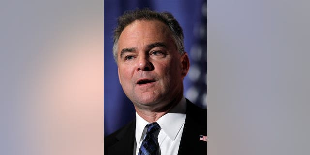 Democratic National Committee Chairman Tim Kaine make remarks at the University of Pennsylvania in Philadelphia, Wednesday, Sept. 8, 2010. Kaine was in Philadelphia to talk about the party's efforts for the upcoming midterm elections. (AP Photo/Matt Rourke)