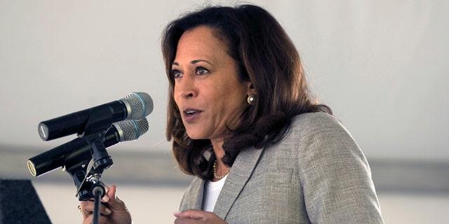 Sen. Kamala Harris, D-Calif., at the 21st Annual Lake Tahoe Summit on August 22, 2017.