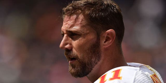 CHICAGO, IL - AUGUST 27: Alex Smith #11 of the Kansas City Chiefs watches action during a preseason game against the Chicago Bears at Soldier Field on August 27, 2016 in Chicago, Illinois. (Photo by Stacy Revere/Getty Images)