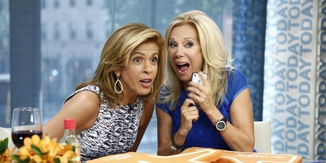 "Kathie Lee Gifford (right) wakes up at 2 a.m. to get to work to co-host ""Today"" with Hoda Kotb (left)."