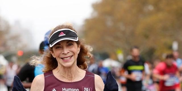 Kathrine Switzer smiles for a photo at the 2017 New York City Marathon.
