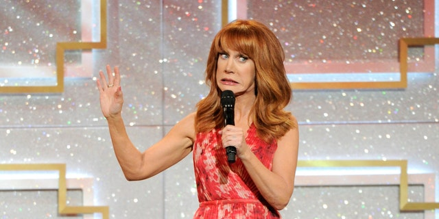 June 22, 2014. Kathy Griffin speaks on stage at the 41st annual Daytime Emmy Awards at the Beverly Hilton Hotel, in Beverly Hills, Calif.