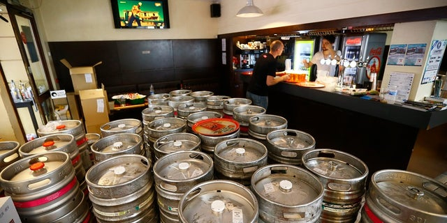A picture of multiple kegs. Vice President Mike Pence reportedly told the college administrator where the kegs were in the fraternity house.