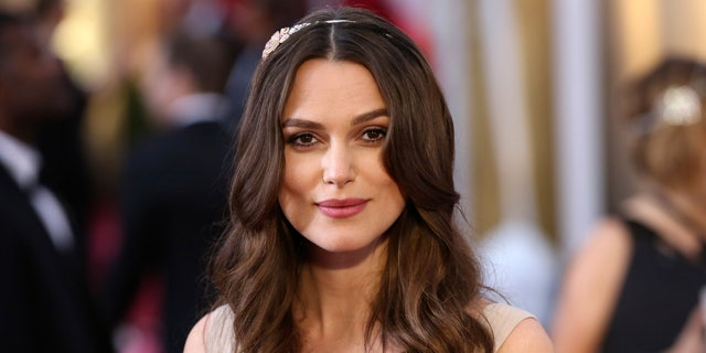 February 22, 2015. Actress Keira Knightley arrives at the 87th Academy Awards in Hollywood, California