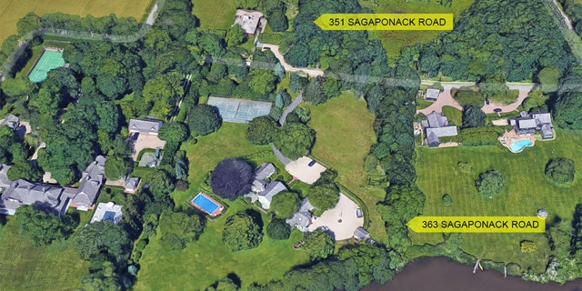 The estate is actually two separate parcels at 363 and 351 Sagaponack Road in Bridgehampton