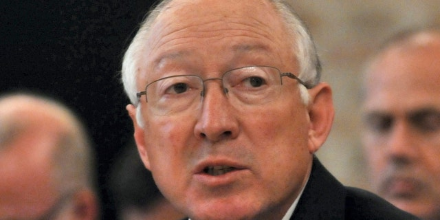 June 26, 2012: Then-Secretary of the Interior Ken Salazar speaks during the Arctic Energy Agenda Roundtable conference in Trondheim, Norway.