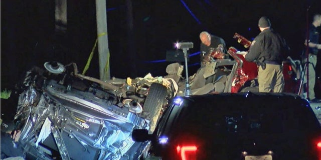 A couple and their three young children were killed in a car crash while going to see a family member, Fox 19 reports.