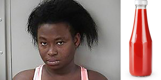 Shalonda Latrice Shepard was arrested after allegedly attacking a woman until the victim's husband stepped in and squirted ketchup on Shepard.
