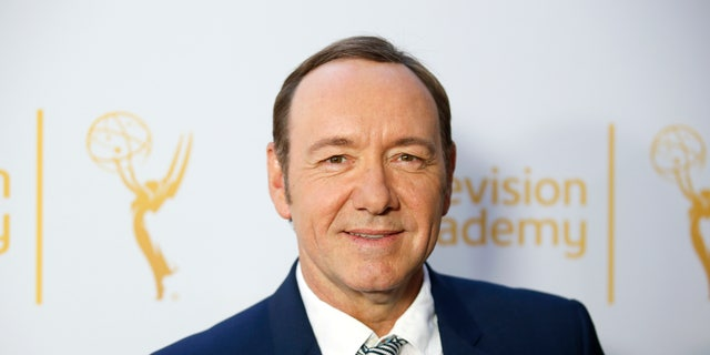 """Actor Kevin Spacey, outstanding lead actor in a drama series nominee for """"House of Cards,"""" poses at the Television Academy's Performers Peer Group cocktail reception to celebrate the 66th Primetime Emmy Awards in Beverly Hills, California July 28, 2014.   REUTERS/Danny Moloshok   (UNITED STATES - Tags: ENTERTAINMENT) - RTR40GMW"""