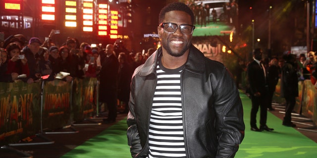 In this Dec. 7, 2017 file photo, Kevin Hart poses for photographers upon arrival at premiere of the film 'Jumanji, Welcome To The Jungle' in London