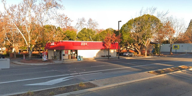 A KFC restaurant in Mountain View, Calif., where police say a homeless man forced a stranger to drive early Saturday.