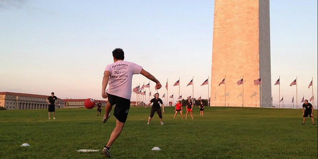 The National Mall has long been the scene of team sports like kickball and soccer.