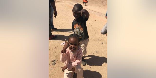 Children in Kenya.