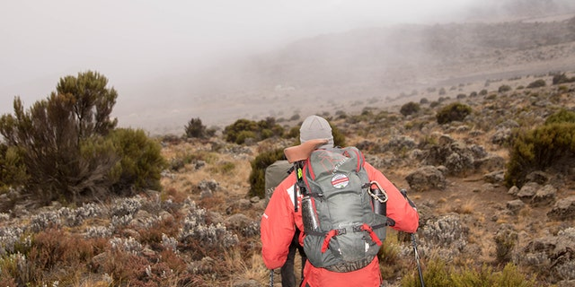 Cpl. Kionte Storey, 29, during his recent climb of Mount Kilimanjaro in Tanzania.
