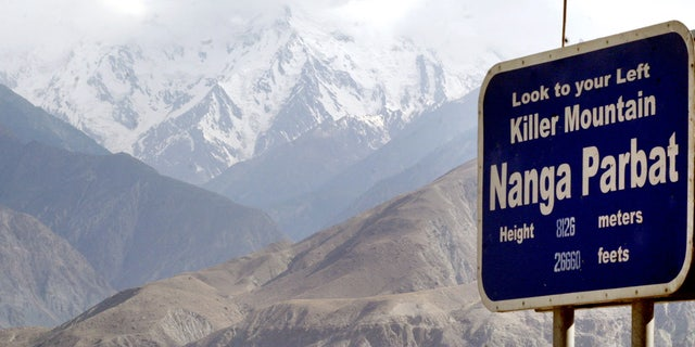 Nanga Parbat, the ninth highest mountain in the world, is seen in Pakistan's northern area.