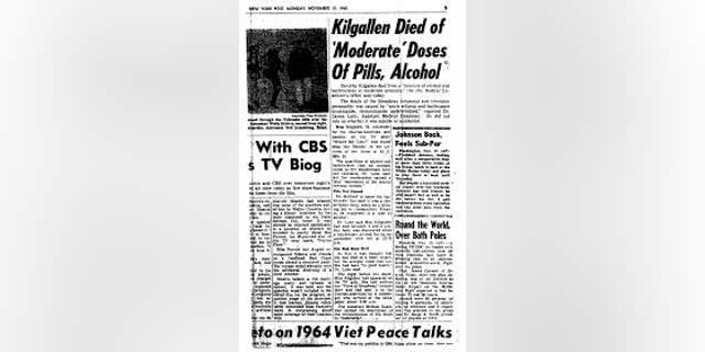 The New York Post covered Dorothy Kilgallen's death in a November 1965 story.