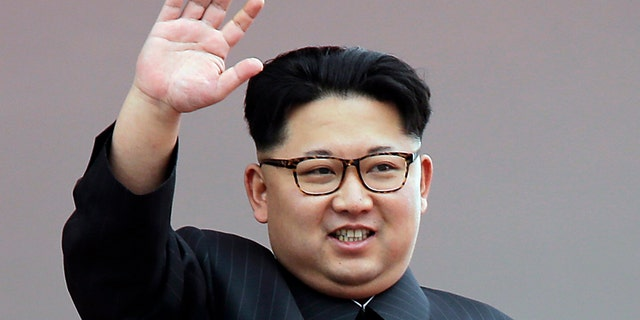 In this May 10, 2016, file photo, North Korean leader Kim Jong Un waves at parade participants at the Kim Il Sung Square in Pyongyang, North Korea.