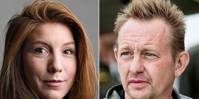 Kim Wall, left and Peter Madsen, right.