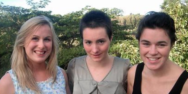 Kimberly McNeill (Center) is recovering rapidly with the support of friends (L) Beka Bryant, and (R) Vicky Callinicos.