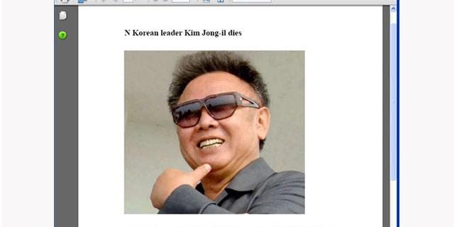 Kim Jong Il related malware has already begun to propagate the web.