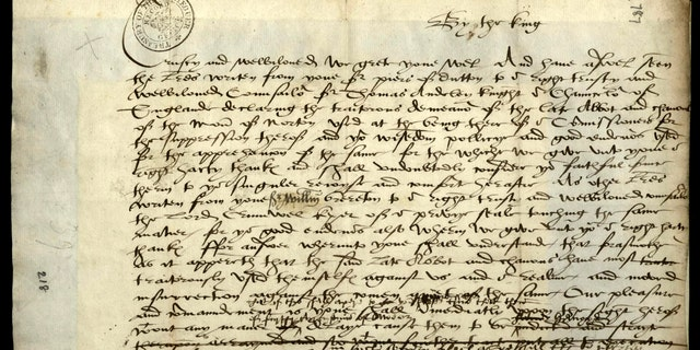 Experts believe that the bloodthirsty letter was dictated to a secretary by King Henry VIII.